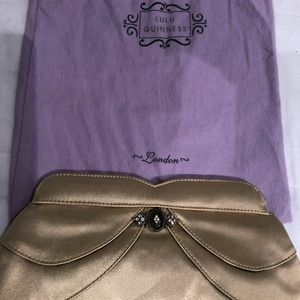 Lulu Guinness satin clutch NIB